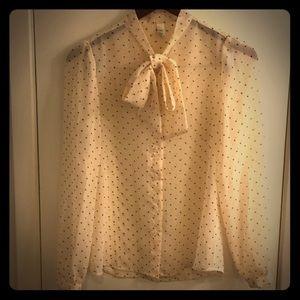 American Apparel new romantic chiffon blouse